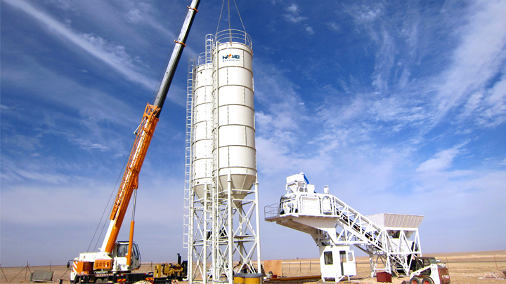 YHZS75 Mobile Concrete Batch Plant